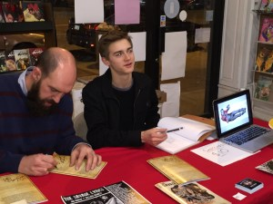 William at his book signing