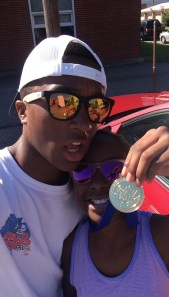 Triumph and I with her gold medal.