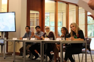 Students on the panel at the Community Forum. Credit: Brigid O'Shea and Taylor Thaxton