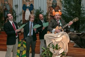 Vladimir and the Berserkers sing some corny songs. Photo Credit: Collegiate School