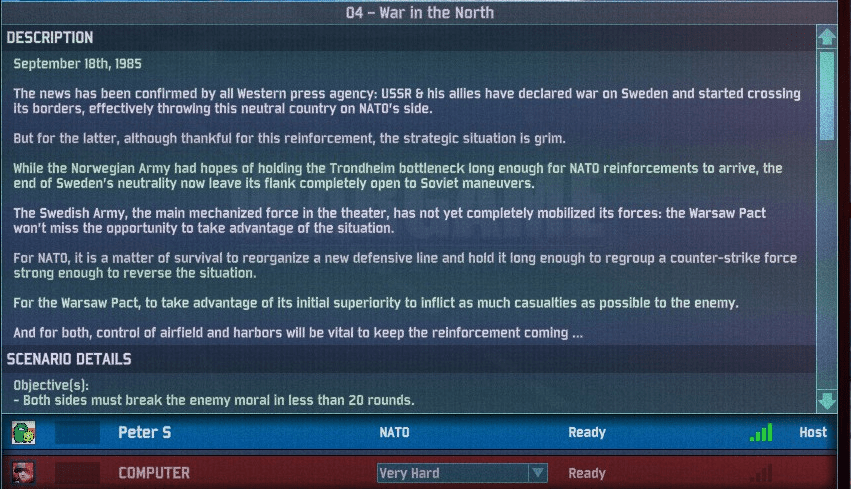 Let's defend Scandinavia in Wargame: AirLand Battle! Part 1: Something Rotten in Denmark (2/6)