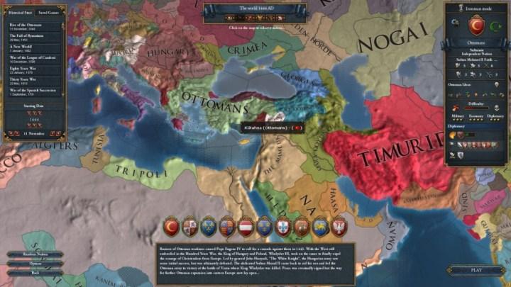 EU4 Ottoman Start
