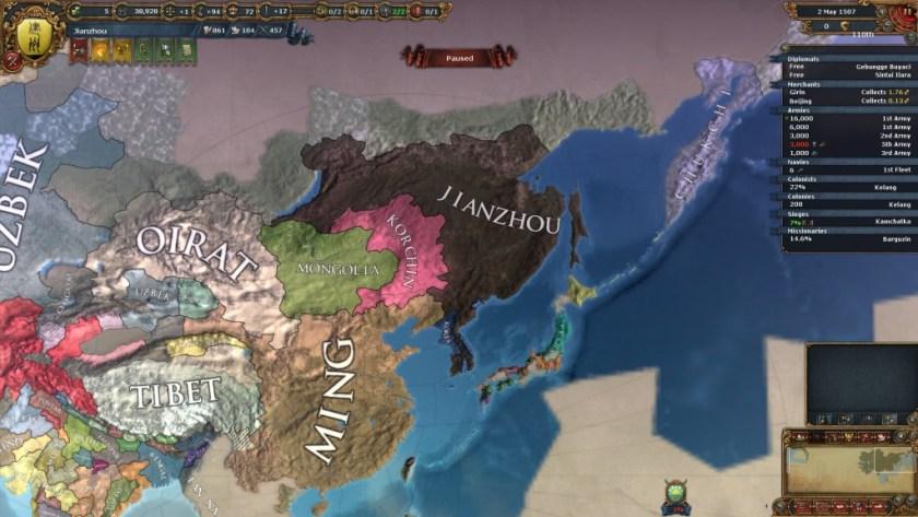 EU4 Jianzhou Phase 1