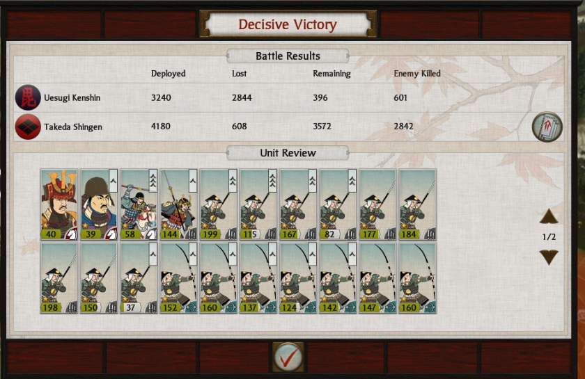 S2 decisive victory over Uesugi