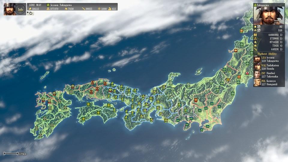 Nobunagas Ambition - FInal position