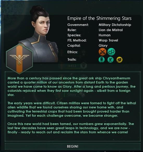 Stellaris ESS start