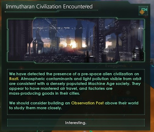 Stellaris - Immathurans encountered