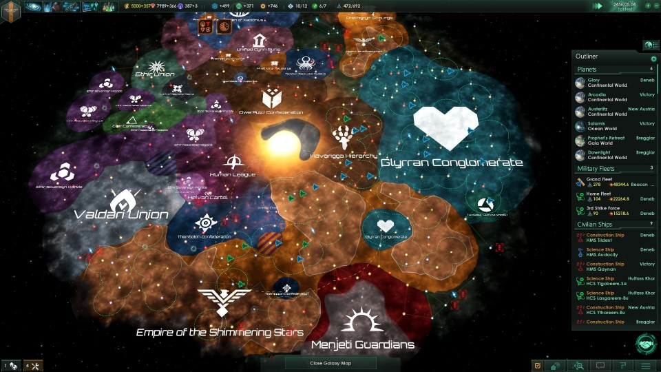 Stellaris end map