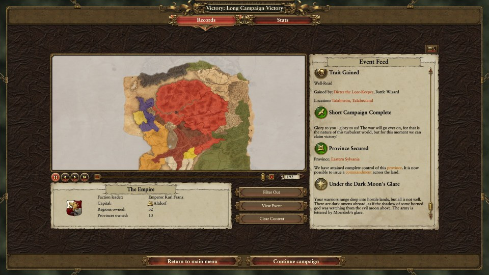 Total Warhammer - Imperial victory