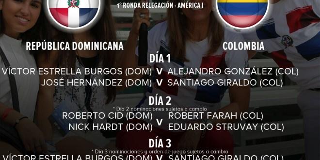 [HORARIOS] COPA DAVIS: REPÚBLICA DOMINICANA VS COLOMBIA