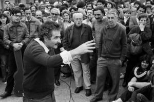 Foto: Mujica en mateada en 1987