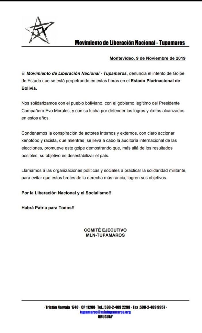bolivia declaracion