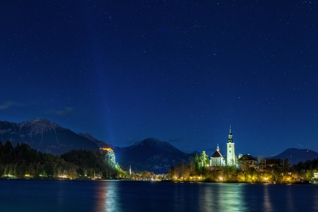 Bled Island during night