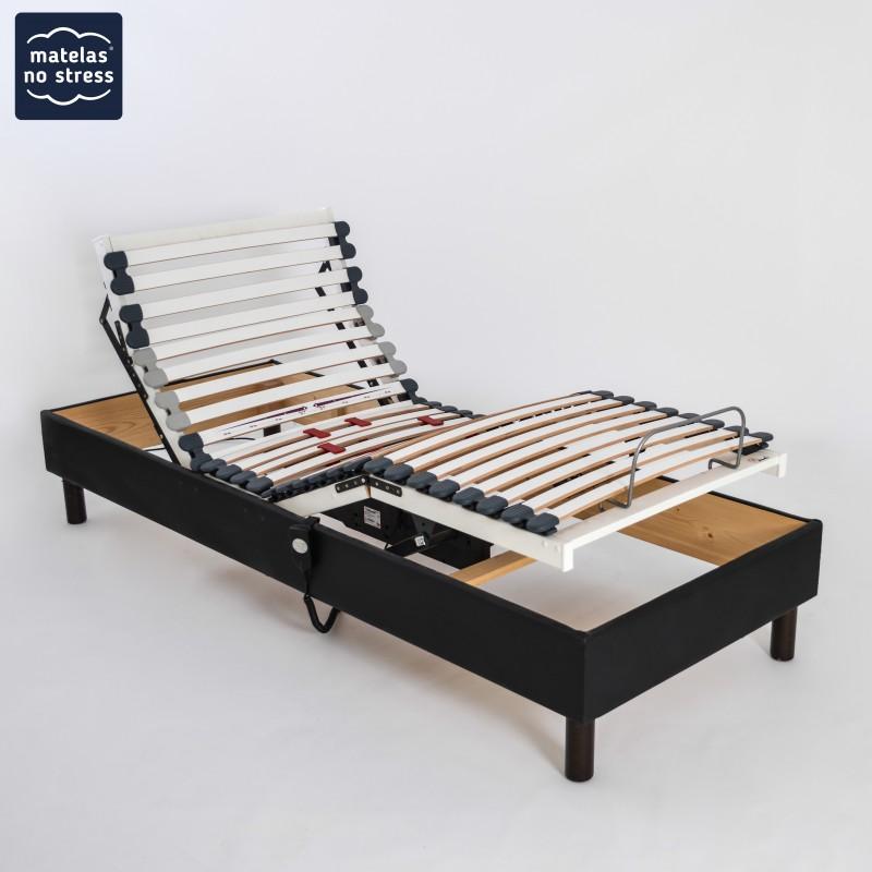 Sommiers 2x70x190 Deco Relaxation Electrique Matelas No Stress