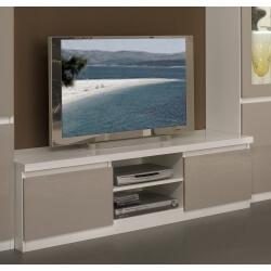 meuble tv design laque blanc gris jewel