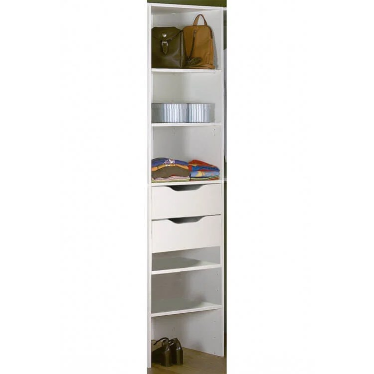 tiroir de rangement blanc pour colonne escape