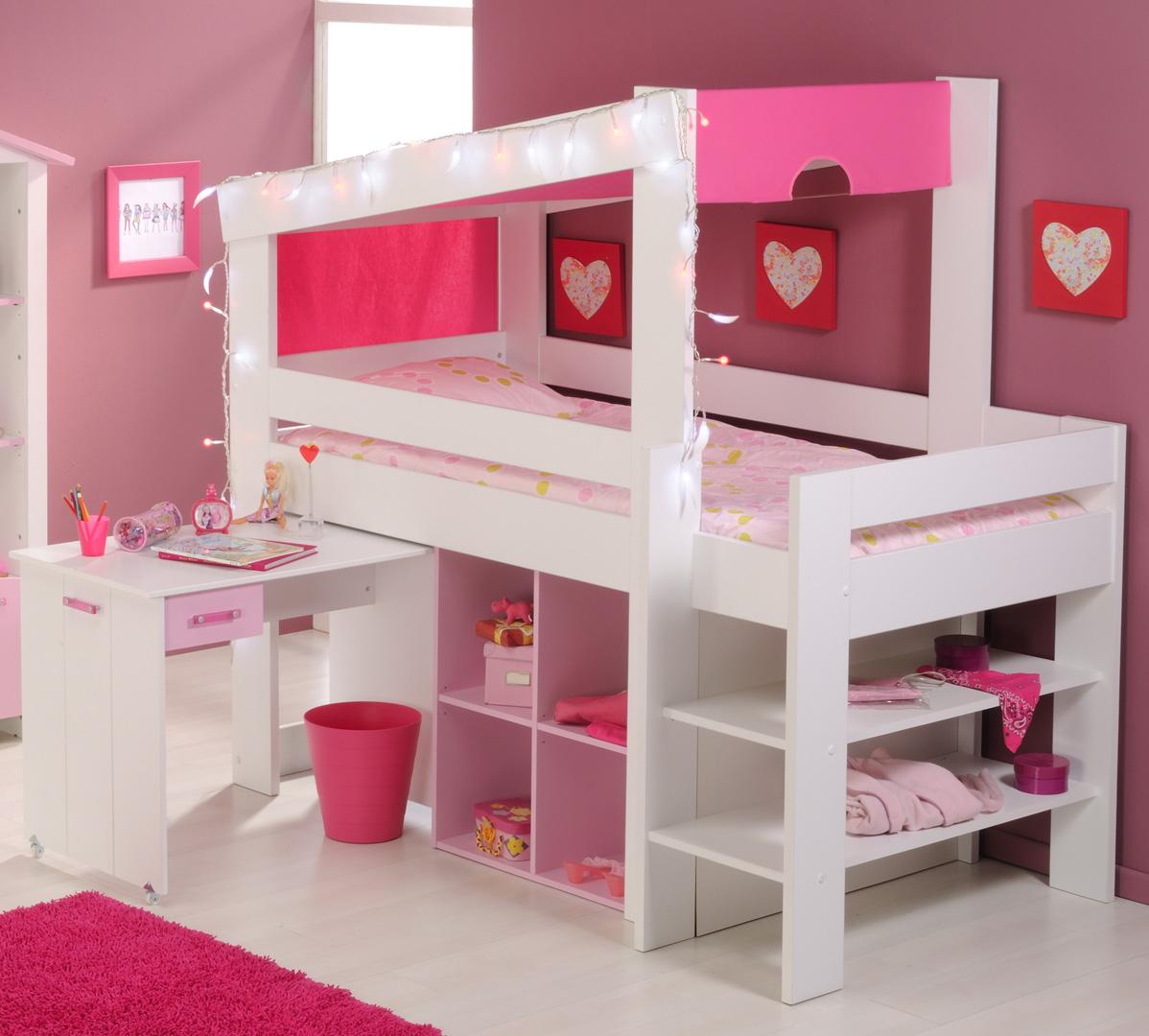 lit combine et bureau enfant praline
