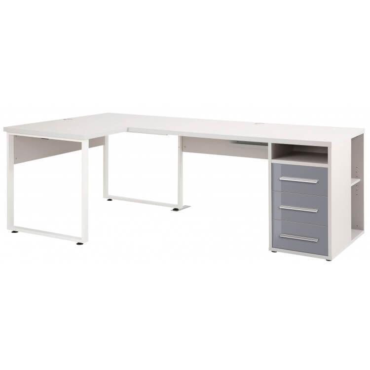 bureau d angle design gris platine verre gris esteban
