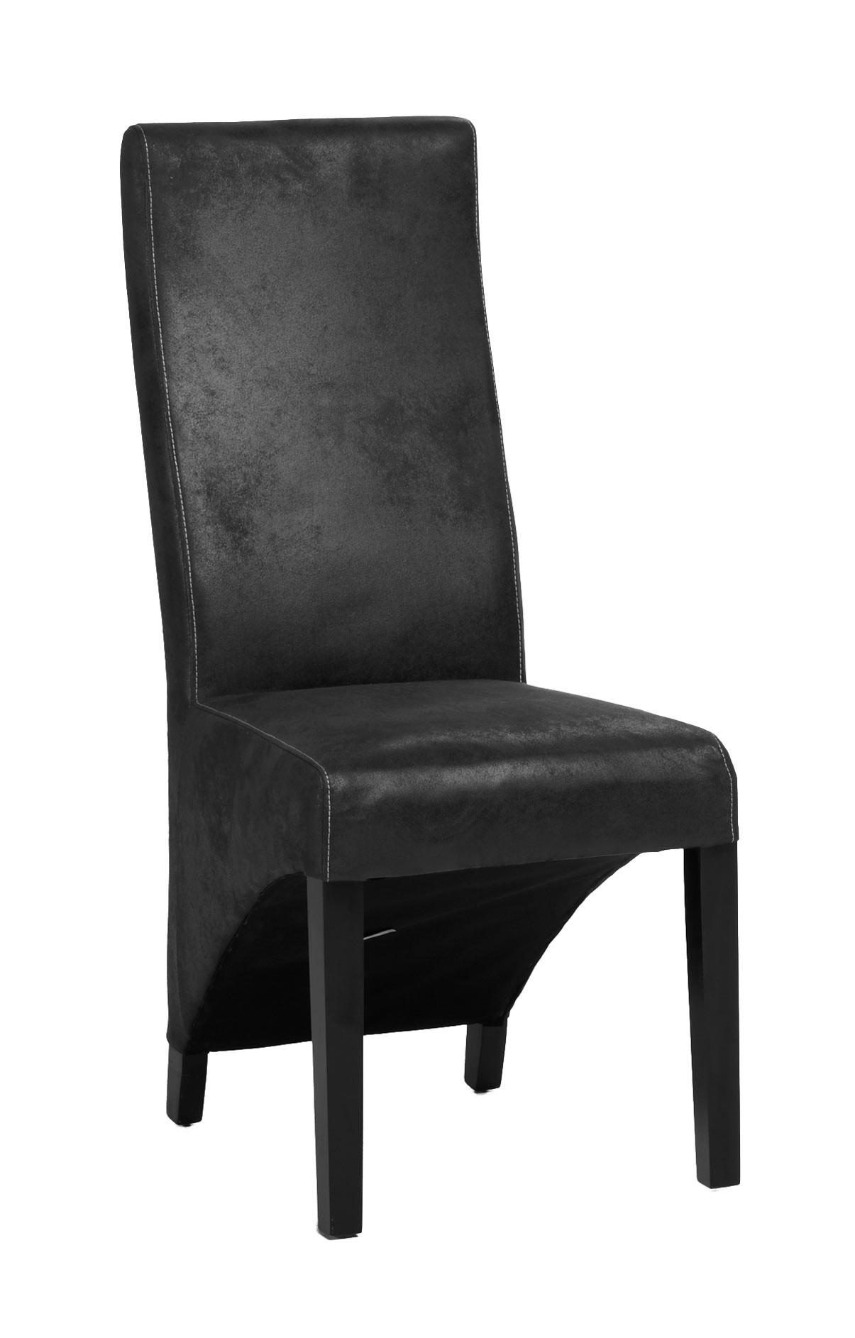 chaise de salle a manger contemporaine en tissu gris lot de 2 garry