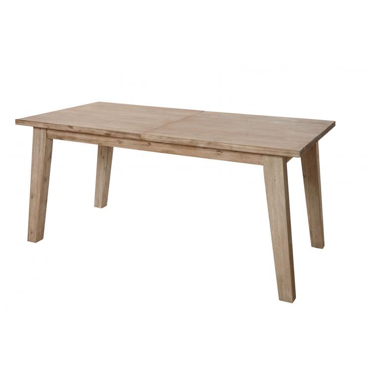 table de salle a manger style nature en bois massif chene clair valerie