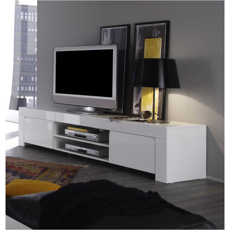 meuble tv design laque blanc twist