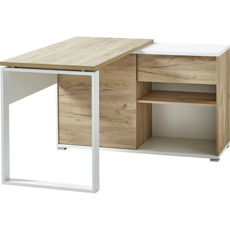 bureau d angle moderne chene blanc pietro
