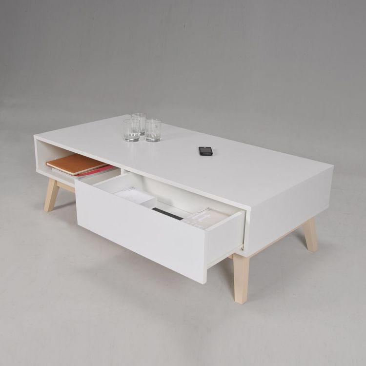 table basse scandinave blanche anders
