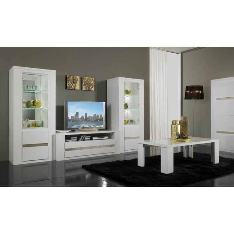 ensemble meuble tv pour ecran plasma 2 colonnes diva