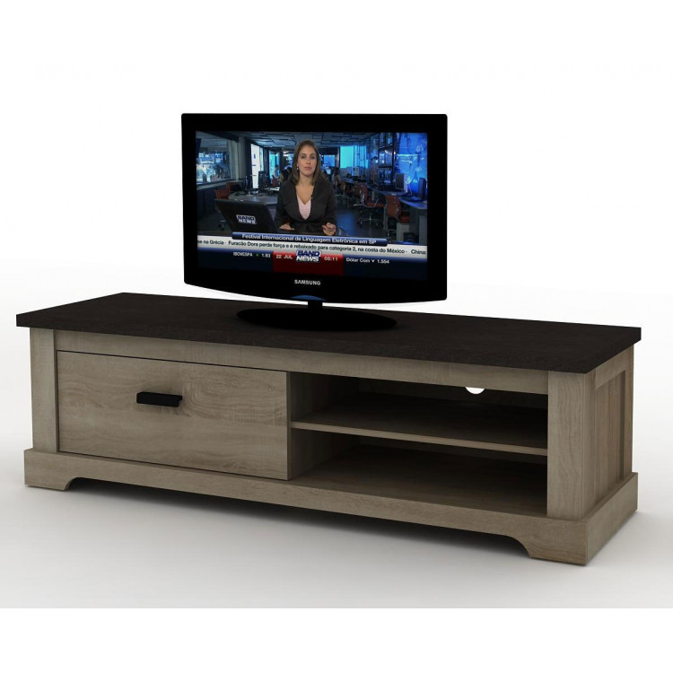 meuble tv contemporain chjene gris pierre wally