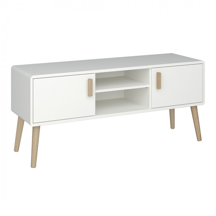 meuble tv scandinave blanc marthy
