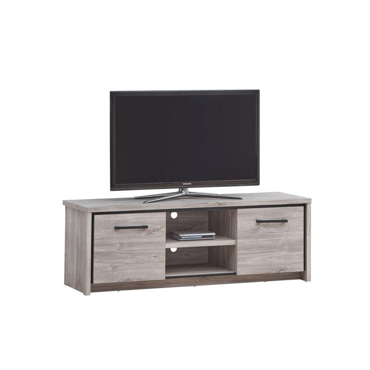 meuble tv contemporain chene gris oliviera