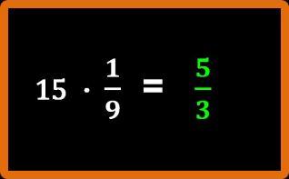 Moltiplicazione tra un numero e una frazione