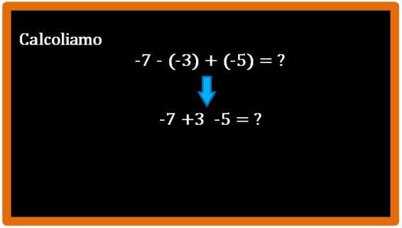 Come si esegue una somma algebrica