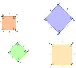 Quadrato e rombo