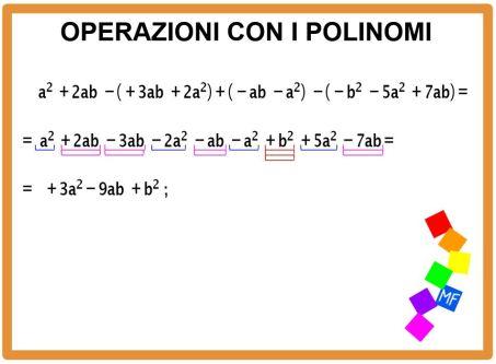 Operazioni con i polinomi