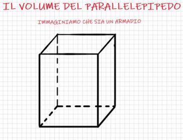 Come si calcola il volume del parallelepipedo