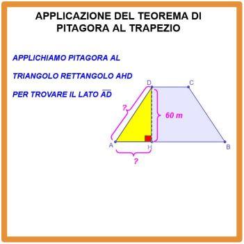 Applicazione del Teorema di Pitagora al trapezio