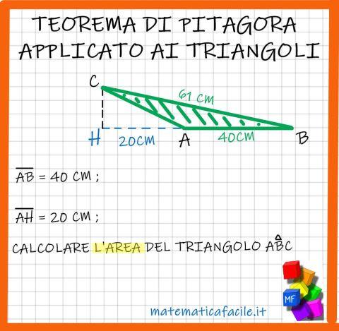 Teorema di Pitagora applicato ai triangoli