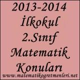 2013-2014 ilkokul 2.sınıf matematik konuları