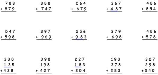 3. sınıf matematik toplama işlemi