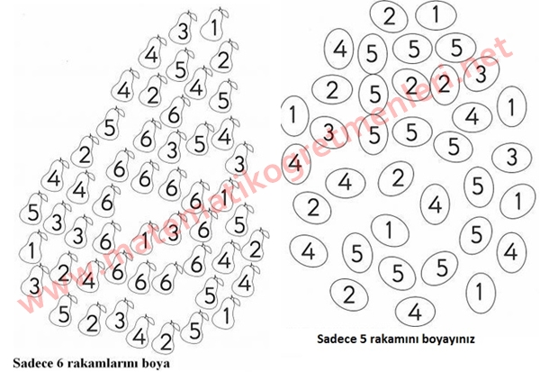 6 Rakami 1 Sinif Matematik Matematik Ogretmenleri
