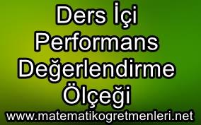 ders içi etkinlik ve performans