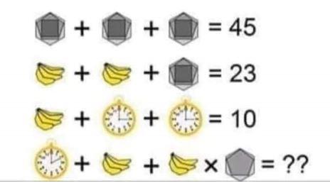 Operaciones con plátanos, relojes y poliedros. ¿Crees que es tan sencillo?
