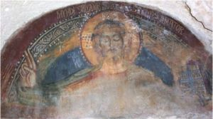 Matera affresco Chiesa rupestre San Giovanni in Monterrone