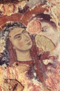 Matera affresco chiesa rupestre Santa Maria della Valle
