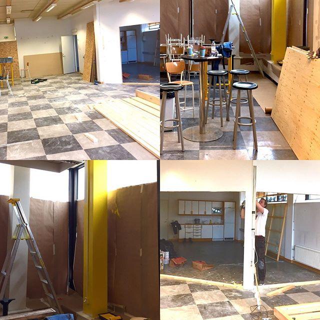 Nu är vi igång med att fixa till Materia Popup. Vi hittade en tom lokal på Järntorget som ville bli ombyggd av oss till ett tillfälligt Materia. Vi tänker att vi öppnar någon gång i april. #materiapopup #byggacafe #materiamajorna