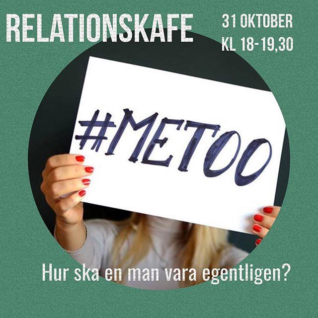 RelationskafeTisdag 31 oktober kl. 18.00-19.30PLATS: Materia Pop Up, Järntorgsgatan 6, Göteborg(mitt emot Biografen Draken, Järntorget)Manlig sexulatitet har fått en mörk skugga över sig på sistone. Många kvinnor vittnar under hashtagen #Metoo om övergrepp, både stora och små. Men alla har de ett gemensamt; ett övertramp har skett. En kränkning. Ett brott. Mannen har inte lyssnat på kvinnans nej eller tagit sig friheter innan hon ens hunnit reagera. Parallellt med detta så finns ett ideal av den kraftfulle mannen som visar styrka och riktning. Hur ska män och kvinnor hitta tillbaka till varandra? Under kvällen utforskar vi fenomentet #Metoo och fördjupar oss i försoningen. Vi ställer oss frågor som: Hur ska män och kvinnor kunna leva harmoniskt tillsammans? Hur kan den kvinnliga och manliga energin komma i balans i oss själva och mellan könen? Vad är okej för en man (eller en kvinna), att göra med en annan människa? Hur säger man 'nej' på ett tydligt och respektfullt sätt? Finns det gånger det är svårt att säga nej? Flirt eller trakasseri, är det svårt att veta vad gränsen går? Ja, hur ska en man vara egentligen? Vad är ett relationscafé? Ett relationscafé är en föreläsning och ett öppet samtal om relationer och mötet mellan människor. Dan Götharsson, familjeterapeut, sexolog och socionom på Göteborgs relationsbyrå, presenterar dagens ämne med en kortare föreläsning och därefter släpper han samtalet fritt. Som gäst kan du prata och delta aktivt i samtalen, eller bara ta en fika, äta något och lyssna. Inträde 100 kr (swish, kort eller kontant.) Fika och mat finns att köpa på Café Materia Pop Up. Vill du läsa mer om Dan Götharsson och Göteborgs relationsbyrå besök gärna www.göteborgsrelationsbyrå.seVarmt välkommen!