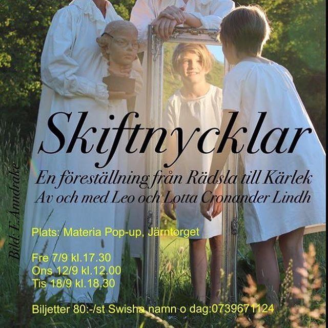 En föreställning i två akter från Rädsla till Kärlek av och med Leo Cronander och Lotta Cronander Lindh. Tre föreställningar 7sept kl 17,30, 12 sept kl 12 och 18 september kl 18,30. Biljetter 80kr, swischa namn och datum 0739671124