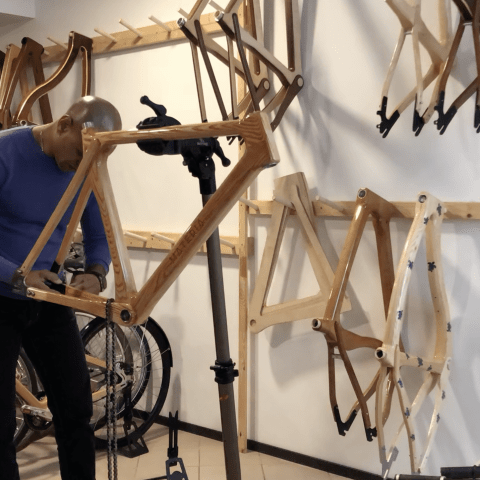 how-to assemble wooden bike