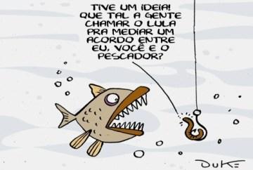Pescaria - a isca, o peixe e o anzol